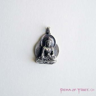 Pendant - Silver S, Buddha with aura
