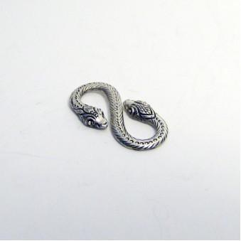 Pendant - silver snake S-hook