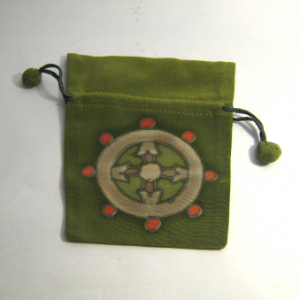 Silk bag M, with luck symbols