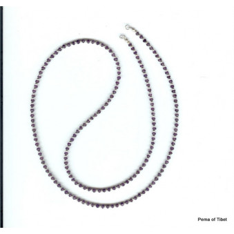 Necklace strand 80 cm Ametyst