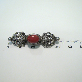 Brooches Vajra with stone
