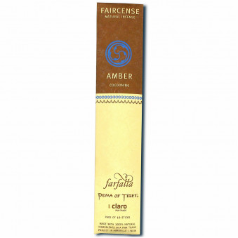 Faircense Faircense Incense Amber 100% natural ingredients and pure essences, rolled by hand with Masala method, Auroville India