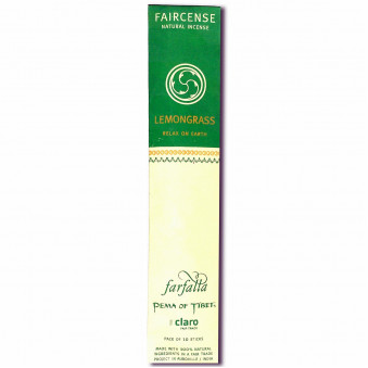 Faircense Faircense Incense Lemongrass 100% natural ingredients and pure essences, hand-rolled using Masala method, Auroville India