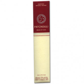 Faircense Faircense incense sticks Patchouli 100% natural ingredients and pure essences, rolled by hand with Masala method, Auroville India