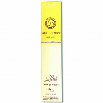 Faircense Faircense Incense Vanilla Benzoin 100% natural ingredients and pure essences, hand-rolled using masala method, Auroville India