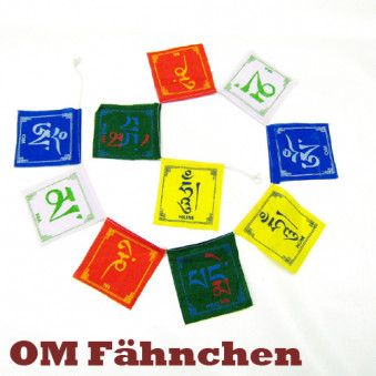 Prayer flags OM flag