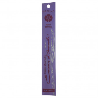 Enclos d'Auroville Encens d'Auroville incense sticks Wild Berry contain exquisite natural ingredients and essences, rolled by hand, Auroville India