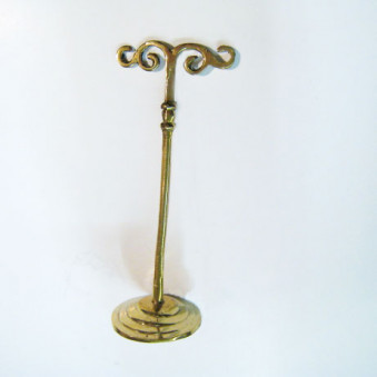Incense - holder brass stand for Shanti cords