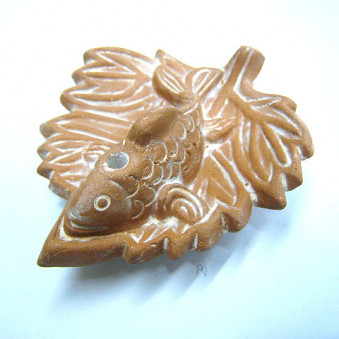 Incense - holder sheet with fish