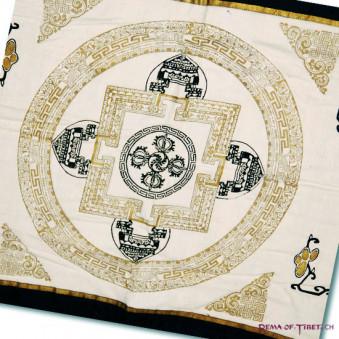Gold meditation pad, meditation pad, mandala print
