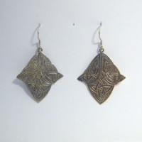 Earrings Celtic-shape trapeze M