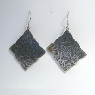 Earrings Celtic-shape trapezoid L