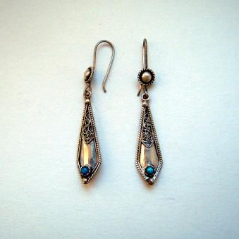 Earrings - Silver Filigree Sword Fine
