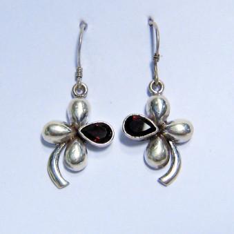 Earrings - Silver Shamrock, 1st stone
