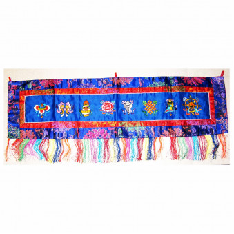 Thangka lucky symbols embroidered, horizontal M