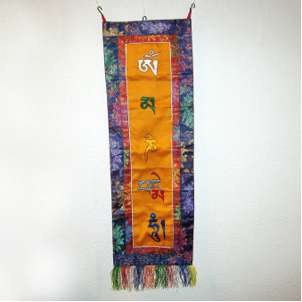 Thangka OM embroidered, vertical M
