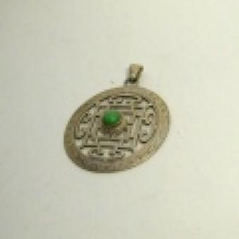 Pendant - Silver Mandala pierced 1. Stone L