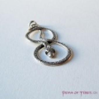 Pendant - silver snake 64 mm