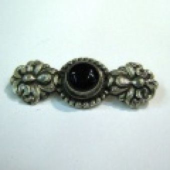 Brooch - silver lotus