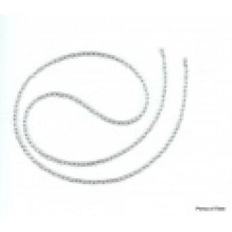 Necklace strand 80 cm rock crystal