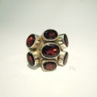 Finger Ring - Silver Equipped with 7th stones