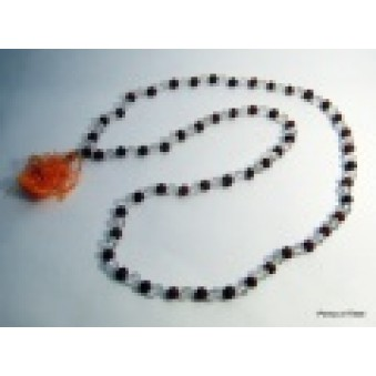 Prayer Beads Mala with Crystal Rudrakhasha Fruit