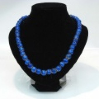 Glass strands glass strand blue matt
