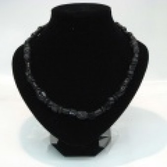 Glass strands glass strand black matt