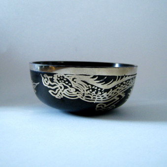 New Singing Bowl Silver Dragon 8 cm // S