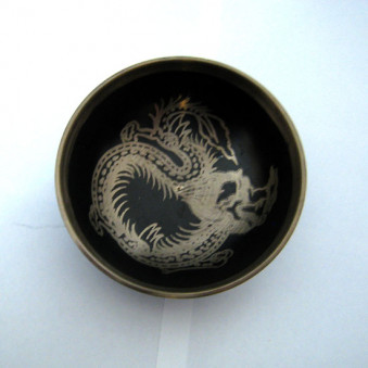 New Singing Bowl Silver Dragon 10 cm // M
