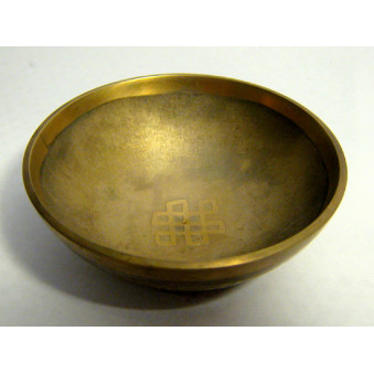 Singing bowl OM + meander graphed