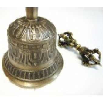 Sound, bell bell with Vajra 16 cm