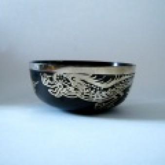 New Singing Bowl Silver Dragon 8 cm // S
