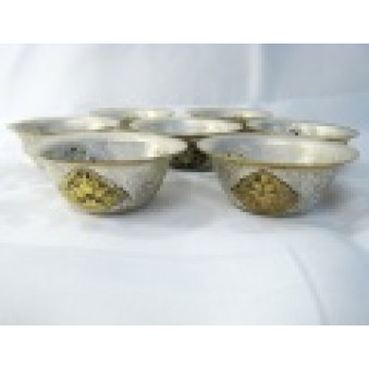 Sacrificial Bowls Sacrificial Bowls Set with Gilded Lucky Symbols S