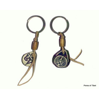 Key ring leather strap with mani stone