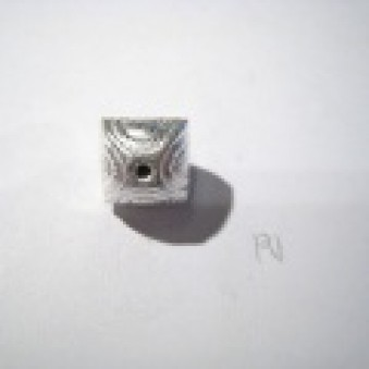Silver parts, brushed 10 mm