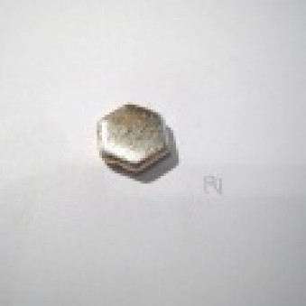 Silver parts, brushed 13 x 4 mm