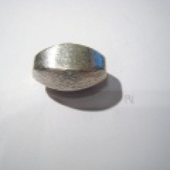 Silver parts, brushed 26 x 17 mm