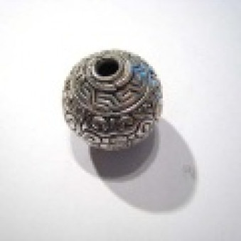 Silver parts, carved, ball sphere, Ø 25 mm