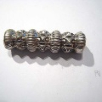 Silver parts, carved, roller roller, 43 mm