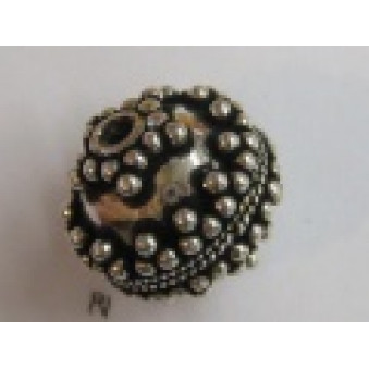 Silver parts, ball ball with beads Ø 17 mm