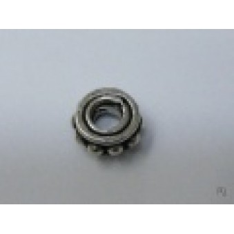 Silver parts, slightly decorated 7 x 3 mm