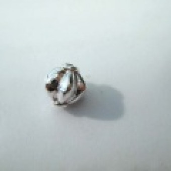 Silver parts, polished 7.5 x 7 mm