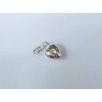Silver parts, polished heart 4 mm