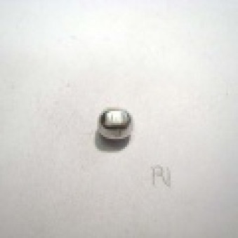 Silver parts, polished oval, Ø 6 mm