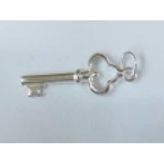 Silver parts, polished key 20 mm