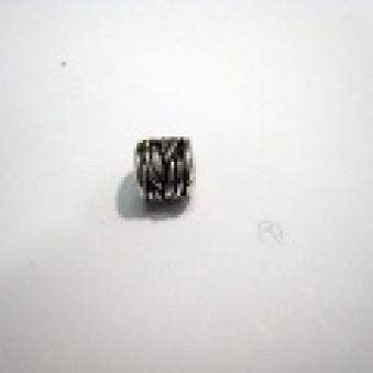 Silver parts, polished, roller roller, 8 mm