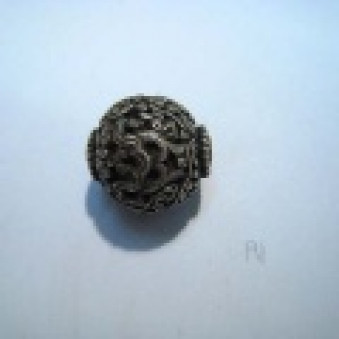 Silver parts, Tibet style ball, Ø 19 mm