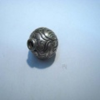 Silver parts, Tibet style ball, Ø 22 mm