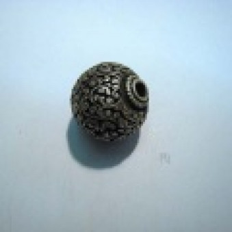 Silver parts, Tibetstyle ball Ø 24 mm